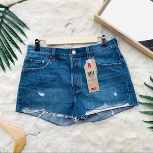 NWT Levi's 501 Button Fly Mid Rise Shorts